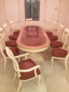 Classic table and chairs. Nomidis Luxury Furniture #classictable#classic#classicfurniture#classicchairs#chairs#table#luxury#kitchens#dinner