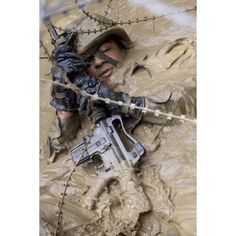 A US Marine participates in the endurance course at Camp Gonsalves Japan Canvas Art - Stocktrek Images (23 x 35)