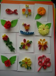 Quilling Craft, Quilling Patterns, Paper Quilling, Quilling Ideas, Handmade Envelopes, Origami Stars, Button Crafts, Gift Tags, Paper Art