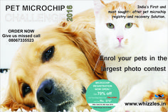 Enroll your #pets in the largest photo contest......  #petmicrochip #petcare http://whizzles.in/