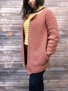 Crochet Jacket Pattern, Crochet Coat, Crochet Shirt, Granny Square Crochet Pattern, Crochet Clothes, Crochet Patterns, Crochet Sweaters, Crochet Style, Crochet Scarves