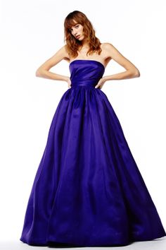 ReemAcra blue evening gown