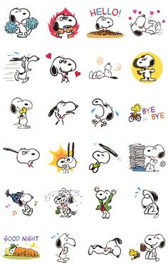 These classic Snoopy cuts have been retouched and reborn as animated stickers! The world's favorite dog is back with some new moves to add to his old bag of tricks.