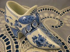 Porceleyne Fles Porcelain ~ANTIQUE DUTCH 1895 DELFT SHOE ~by Thooft & LaBouchere | eBay