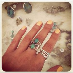 Beautiful aqua rings - Spell Design - Byron Bay