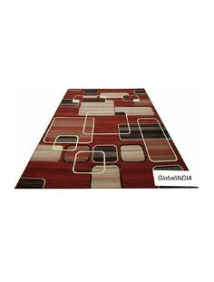 Textured overlapping rectangles, bands, and squares create a Modern Composition for your floors. #globalindia #textured #overlapping #amazon #rufruf Here is the link! GlobalINDIA's Textured Overlapping Rectangles Carpets And Rugs with 0.5'' Pile Height For Bedroom Room 5 feet x 7 feet (150X210cm) Rust Color https://www.amazon.in/dp/B079TRJ9M4/ref=cm_sw_r_cp_apa_i_nWzZAbKFJAE3X