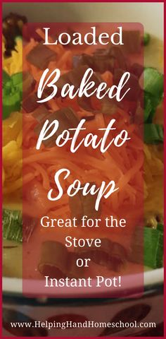 Loaded Baked Potato Soup – Instant Pot or Stove Top! This soup is perfect for a cool evening and comes together quickly. And you can make it in the Instant Pot or stove top! Casserole Recipes, Pasta Recipes, Crockpot Recipes, Soup Recipes, Chicken Recipes, Vegetarian Recipes, Snack Recipes, Chowder Recipes