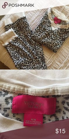 Pjs Animal print long john type Victoria's Secret Intimates & Sleepwear Pajamas