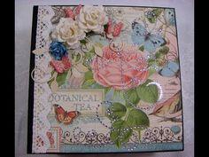 Graphic 45 Botanical Tea Scrapbook Photo Album - YouTube