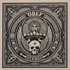 OBEY HOLE IN THE SKY ALBUM COVER PRINT