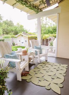Plantation Adirondack Chair - Custom Made Indoor Outdoor Rugs, Outdoor Seating, Outdoor Spaces, Outdoor Gardens, Outdoor Chairs, Outdoor Decor, Adirondack Chairs, Cottage Style Furniture, Garden Furniture
