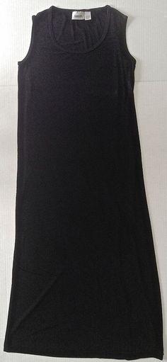 CHICOS Travelers Classic Black Stretch Maxi Dress Sleeveless Size 2/Medium  #Chicos #Maxi