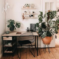 Jule Popule Office Inspired -aesthetics home office Idea Home Office Design, Home Office Decor, Office Decorations, Office Ideas, Easy Home Decor, Cheap Home Decor, Living Room Decor, Bedroom Decor, Decor Room
