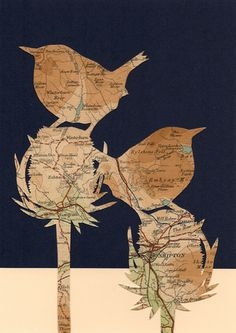 Maps and papercutting.... simply nice!