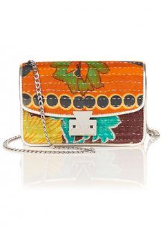 Kantha Pewter Mini Bag - Bags - Matthew Williamson