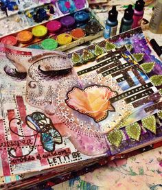 Found on jenndalyn.tumblr.com 1/21/15 mixedmediaartjournal