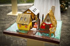 Gingerbread Floating Homes - by Pastry Chef  April Iverson - Inn at Laurel Point, Victoria BC