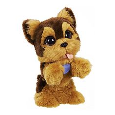 Jake My Jumpin' Yorkie pet is sweet soft and so excited to play! Pet his head or wave at him and he'll jump up on his hind legs and bark like a real puppy! Pet his back and he'll sit like a go...