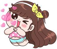 Boobib Lovely Daily (... | 光頭賣 - 最大的LINE貼圖代購網 | 全館通通降五元 VIP儲值300送40 Cute Cartoon Pictures, Cute Cartoon Girl, Baby Girl Earrings, Game Cafe, Emoji, Cartoon Gifs, Kawaii Drawings, Girl Humor, Cute Stickers