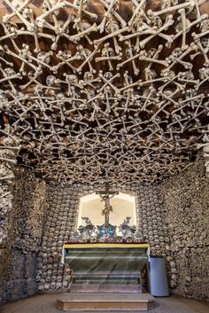 The Skull Chapel, a mass grave of people who died during the Thirty Years' War (1618-1648)