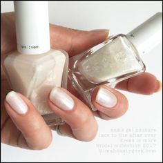 essie bridal 2017 gel couture swatches review beautygeeks