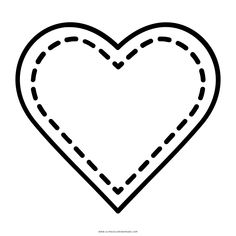 corazón Página Para Colorear Crochet Flower Patterns, Crochet Flowers, Quilling, Valentines Day, Shells, Cricut, Drawings, Crafts, Craft