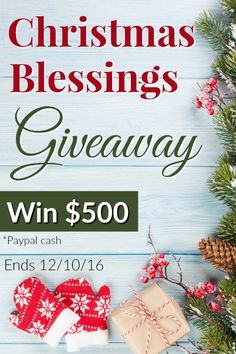 faithful with the little: Being a blessing to others on Christmas( Christmas Blessings Giveaway $500 paypal cash) Don't miss out on this amazing giveaway! Ends 12/10/16