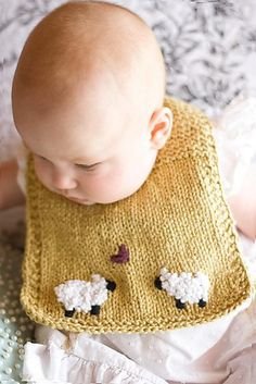 A sweet bib with simple charm.Sample is shown in Mission Falls 1824 Cotton.