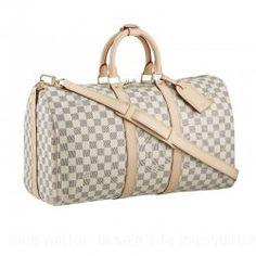 Louis Vuitton-Keepall 45 Shoulder Strap Top Handle N48223 Beige