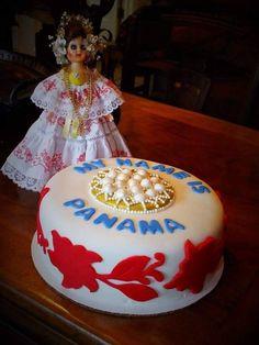 Precioso, cake inspirado en nuestra Pollera! Panama