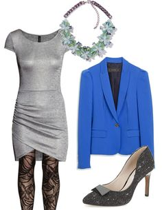 #21dinner #fashion #dress #pumps #blazer