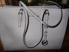 Michael Kors Jet Set Eastwest Saffiano Leather Grey Tote Bag NWOT #MichaelKors #TotesShoppers