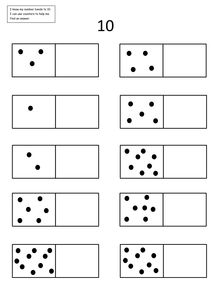 Printables Number Bonds To 10 Worksheet facts products and matching games on pinterest a very simple number bond worksheet showing dominoes with dots one side children to complete domino drawing the other make 5 or