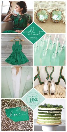 Emerald + Mint Fall Wedding | Pinterest Inspiration - Mint 102 Wedding Branding + Event Branding