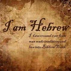 I'm HEBREW  ...