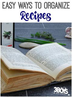 Easy Ways to Organize Recipes