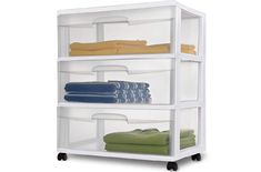 3 Drawer Wide Cart Storage Box Home Organizer Room Sterilite Cabinet Clear Black 73149293091 Drawer Cart, 3 Drawer Storage, Rolling Storage, Storage Cart, Storage Boxes, Extra Storage Space, Storage Spaces, Plastic Storage Cabinets, Storing Towels