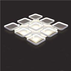 (EU Lager)Modern Deckenleuchte Led Eckig Design aus Acryl Weiß