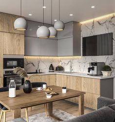 Kitchen Interior Design Unbeatable two tone kitchen cabinets wood and white Contemporary Kitchen Cabinets, Modern Kitchen Interiors, Modern Kitchen Cabinets, Kitchen Cabinet Colors, Painting Kitchen Cabinets, Interior Modern, Kitchen Paint, Interior Ideas, Modern Kitchens