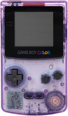 Game Boy Color. -- Playing pokemon in the good 'ol days...