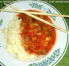 W Mojej Kuchni Lubię..: gulasz z ryżem curry...