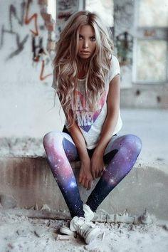 galaxy leggings...yes!