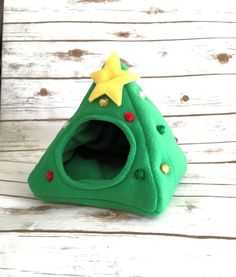 Christmas Tree Hedgehog Tent Guinea Pig Plush Fleece Hidey Hut House