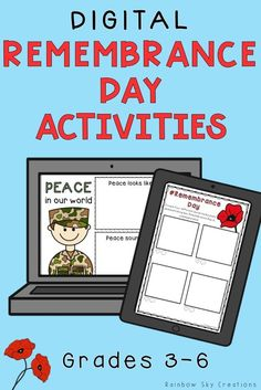 Check out these paperless Remembrance Day activities to teach kids about the significance of this day. Teach them to commemorate with poppy activities and other learning & reflective online tasks {Grade Grade Year Year homeschool} School Resources, Learning Resources, Learning Tools, Remembrance Day Activities, Lessons For Kids, Piano Lessons, Anzac Day, Australian Curriculum, Creative Thinking