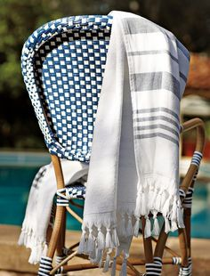 Our fabulous Riviera Chair + Fouta Towel #serenaandlily