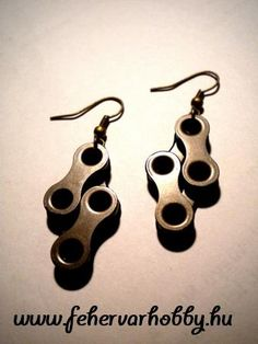 Bicycle chain earring