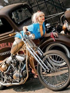hot rods, bikes , pin up girls and anything else that I think is cool. Lady Biker, Biker Girl, Biker Baby, Ducati, Ride Out, Bobber Motorcycle, Motorcycle Girls, Pin Up, Hot Bikes
