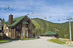 ski lodging summer | Skiing Resort In The Summer Time Stock Image - Image: 11243711