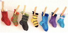 Ravelry: little sock ornaments pattern by Ravelry, Knit Crochet, Socks, Holidays, Ornaments, Knitting, Cute, Pattern, How To Make