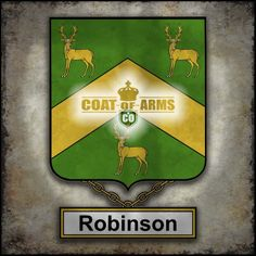 Robinson Family Crest - English Coat of Arms (GB)